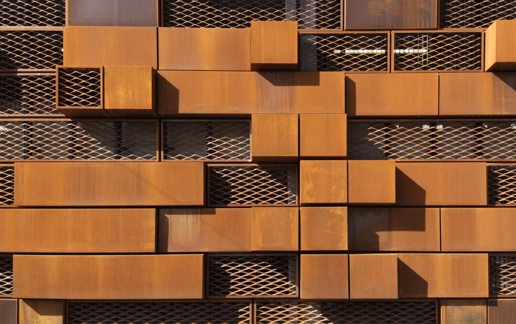 Piccadilly Car Park Manchester Corten Perforated Expanded