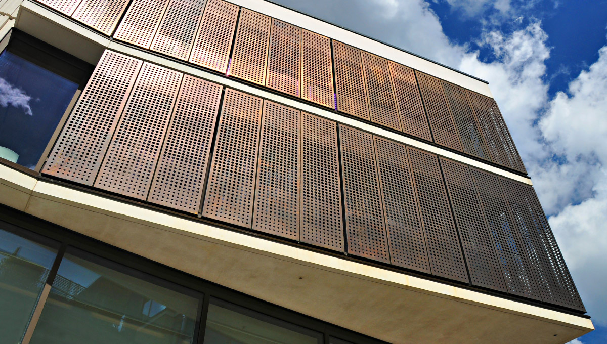 Metal Mesh Screen Panels : Expanded mesh metal proteus facades