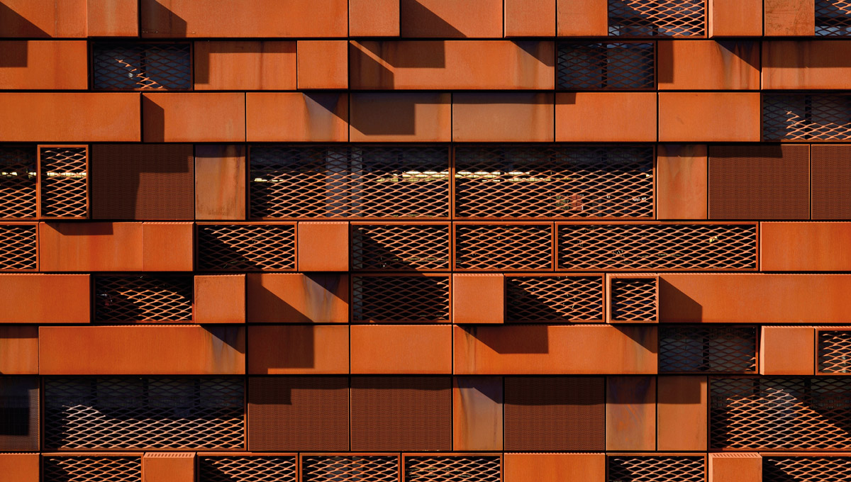 Corten Expanded Mesh and Perforated Cladding