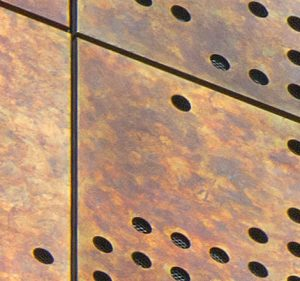 TECU Brass Capisco Patinated Rainscreen Claddingg