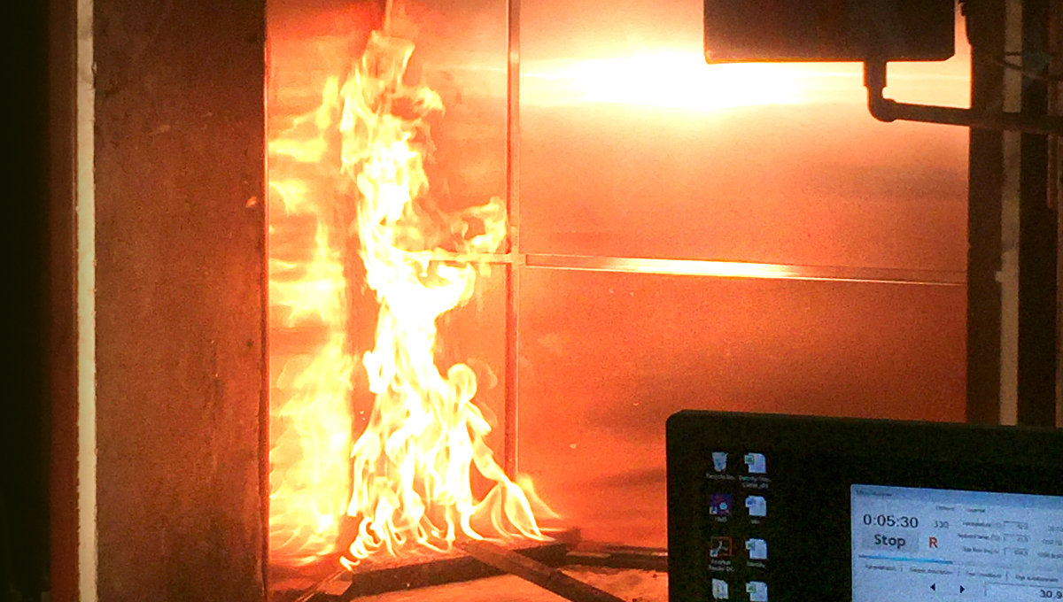 Rainscreen Fire Test