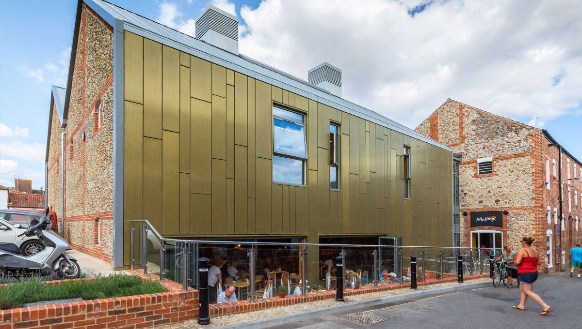 TECU Brass Rainscreen Cladding - Proteus HR
