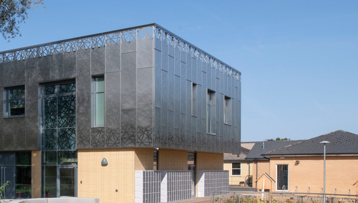 Stainless Steel Cladding at Oxford high school